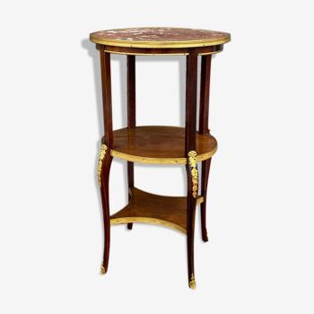 Table de salon en acajou de style  Louis XV XIXeme siècle
