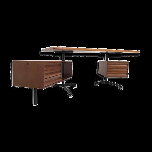 Bureau model T95 Direzionale vintage avec tiroirs pivotants par Osvaldo Borsani pour Tecno