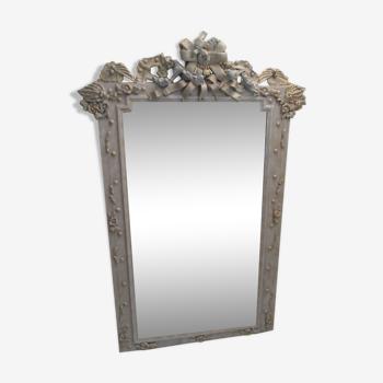 """Miroir ancien baroque """"les oiseaux bleus celestes"""" 152x103cm"""
