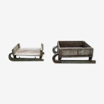 2 traîneaux pour coffre ou tables basses