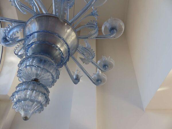 Lustre Vénitien en verre de Murano à 12 bras de lumières années 30/40