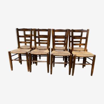 Série de 8 chaises
