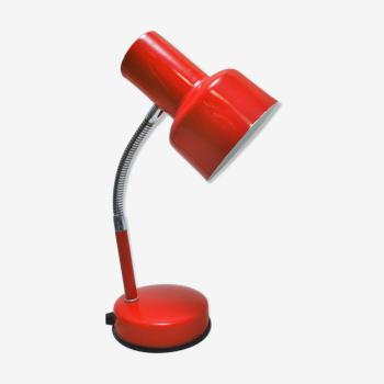 Lampe de bureau rouge années 70