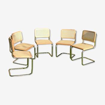 Série de 5 chaises de Marcel Breuer