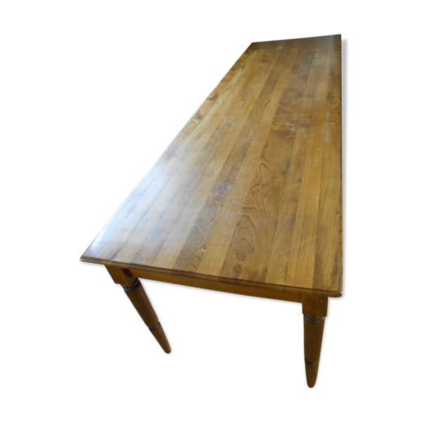 Selency Table de refectoire en orme 290 x 90 cm