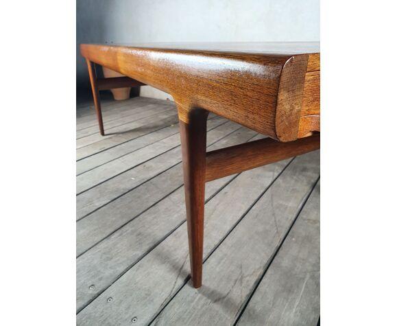 Danish solid teak coffee table Johannes andersen