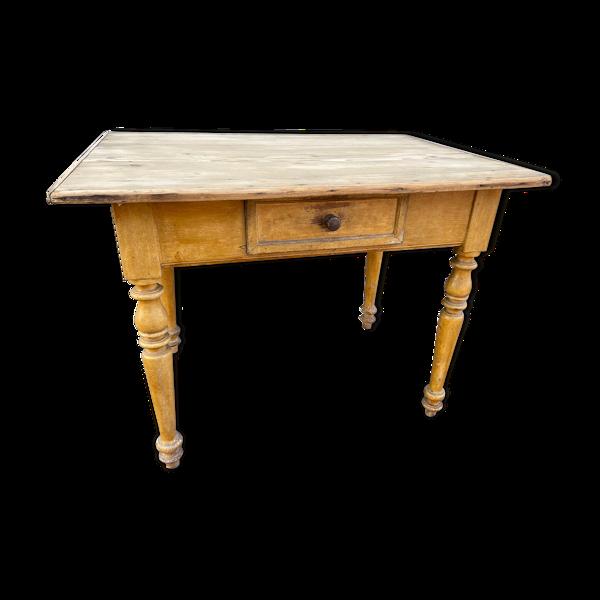 Table de ferme en sapin bois naturel 1900 brasserie