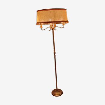 Lampadaire vintage en laiton des années 70