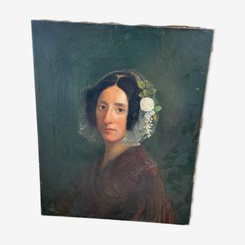 Huile sur toile début 19eme signée