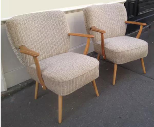 Paire de fauteuils cocktail 1950