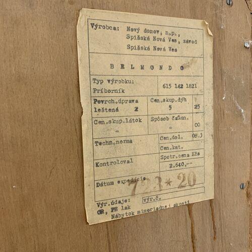 Cabinet vintage 'Belmondo' Tchécoslovaquie années 1970