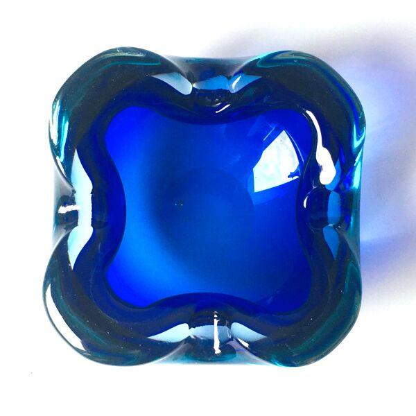 Sommerso murano glass ashtray ou bol de made murano glass, années 1960