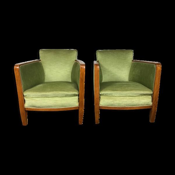 Selency Paire de fauteuils bergères époque Art Déco