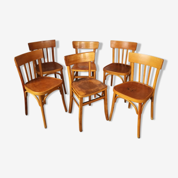 Set de 6 chaises bistrot