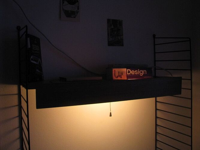 Éclairage pour étagères à cordes Danemark