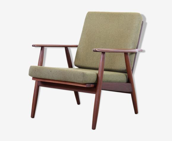 Fauteuil de design danois en bois de teck du milieu du siècle des années 1960