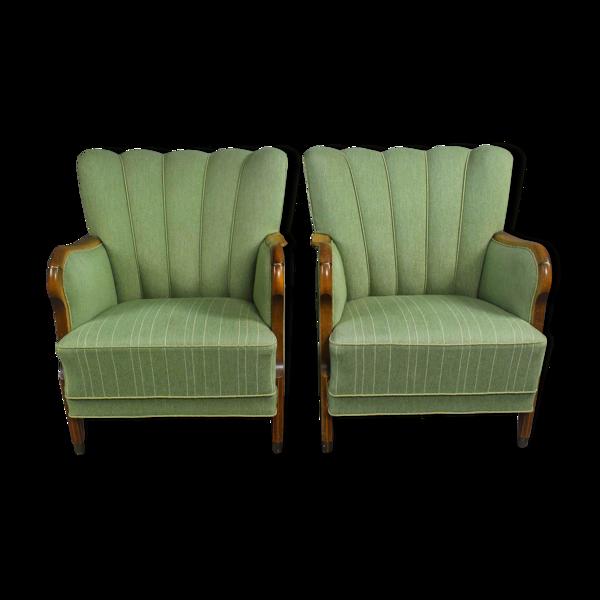 Paire de fauteuils danois du milieu du siècle, années 1950