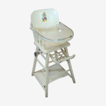 Chaise bébé haute vintage Baumann design dessin benjamain rabier