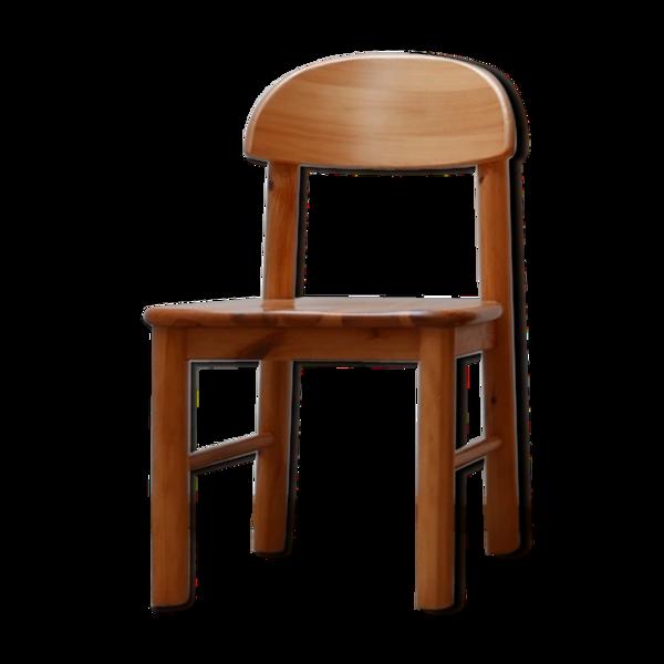 Ensemble de quatre chaises à manger du milieu du siècle de pin