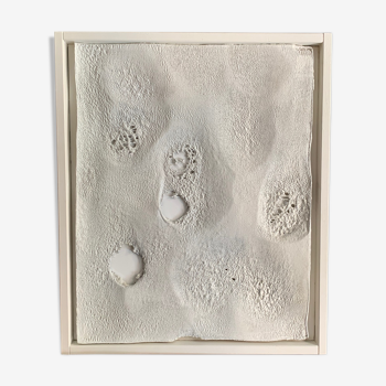 Andrea Brandi, White Abstract Materic Painting, Italy, 2019