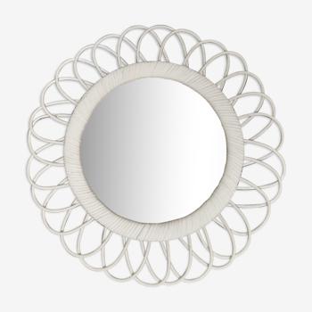 Miroir en rotin 41 cm de diamètre