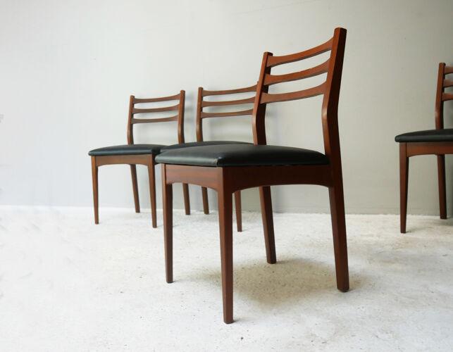 Lot de 6 chaises à manger anglaise du milieu du siècle des années 1960