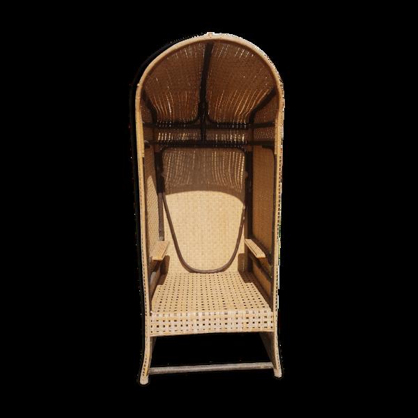 Fauteuil cabine canné années 1900