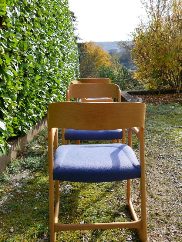Lot de 4 fauteuils bémol Baumann