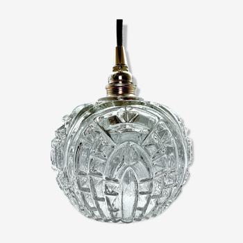 Baladeuse vintage en verre moulé pressé électrifiée à neuf