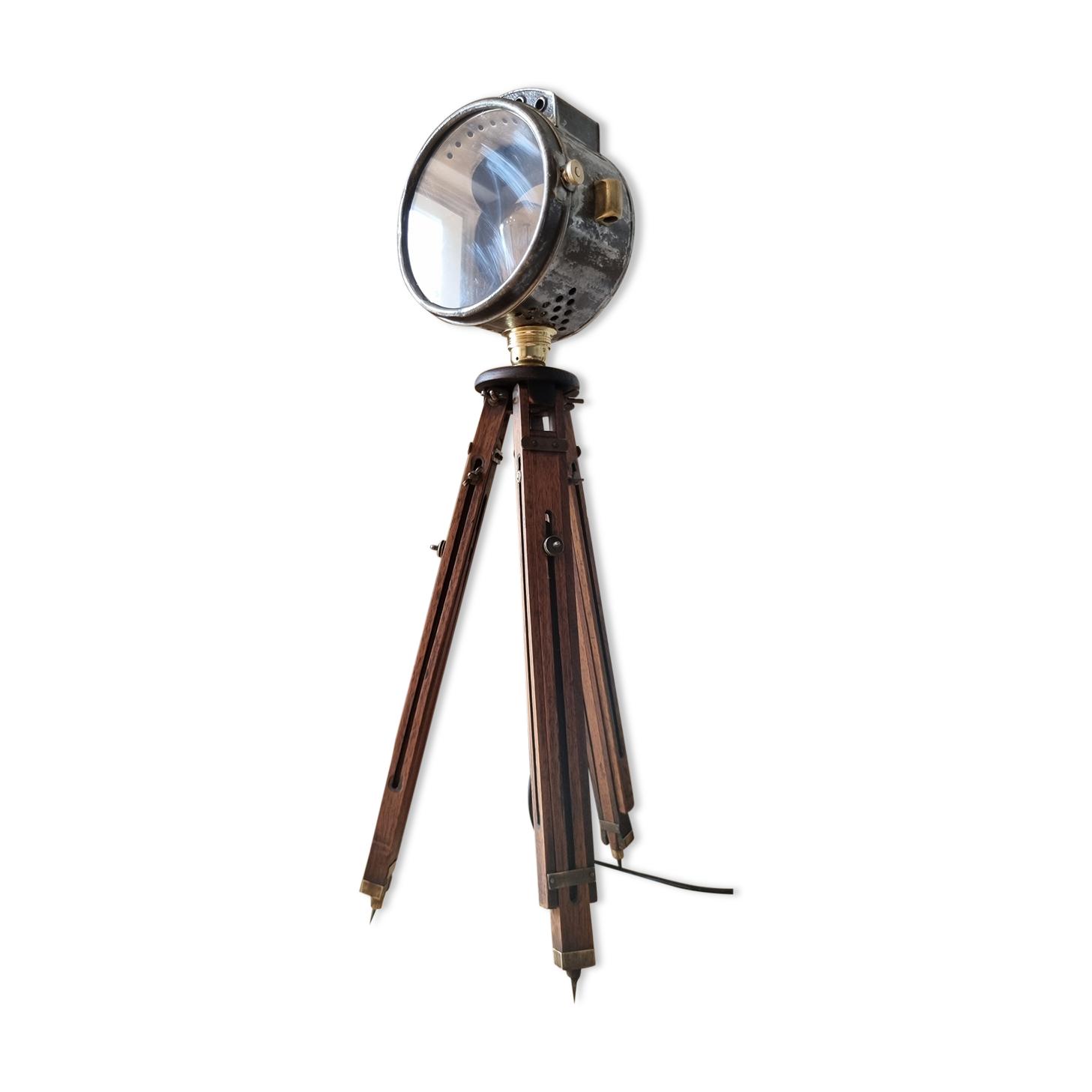 Ancien projecteur sur trépied, Auteroche France, ca. 1900