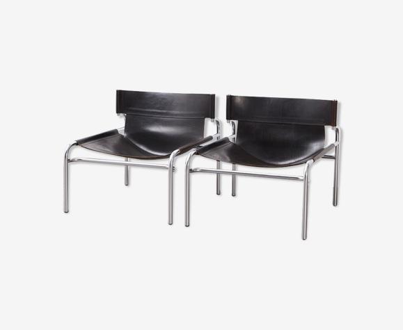 Paire de chaises longues SZ12 de Walter Antonis  pour 't Spectrum 1971
