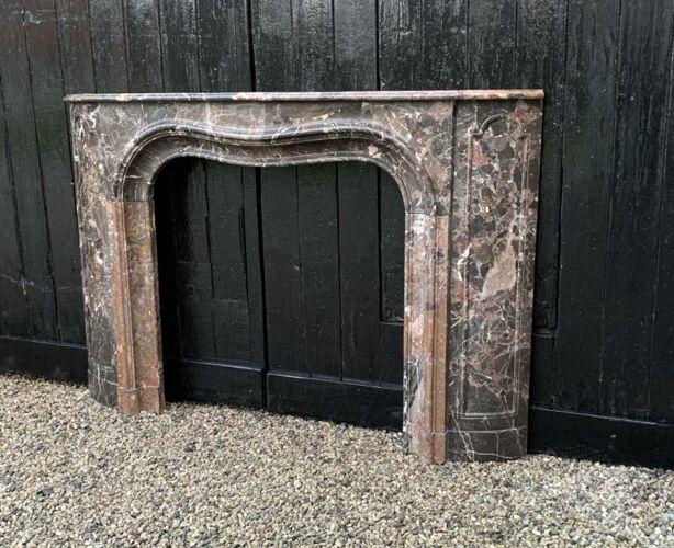 Cheminée en marbre brèche de waulsort début XIXème siècle