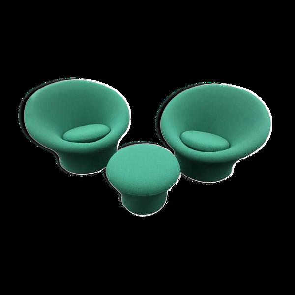 Selency Paire de fauteuils vert Pierre Paulin pour Artifort 1960