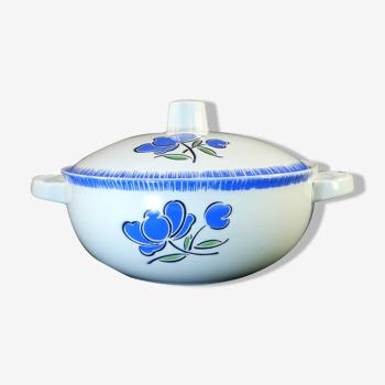Soupiere badonviller décor fleur bleu