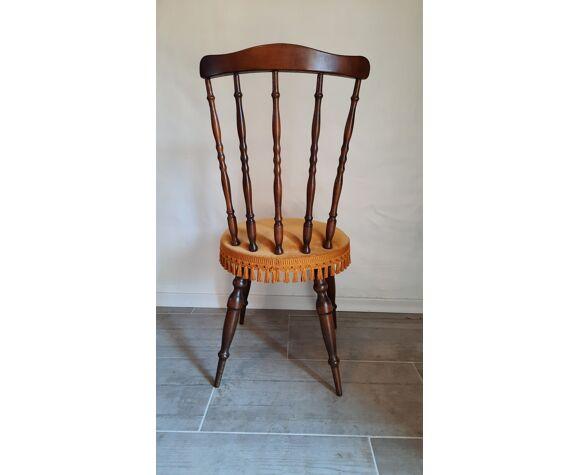 Paire chaises velours bohème