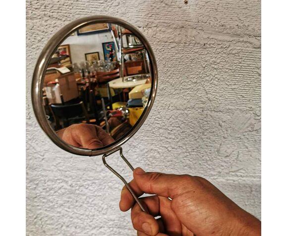 Miroir de barbier rond grossissant