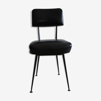 Chaise skaï noir