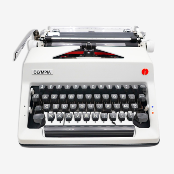Typewriter Olympia SM9 white revised ribbon new 1970