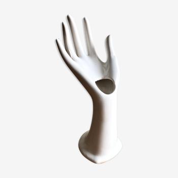 Main baguier vase soliflore céramique