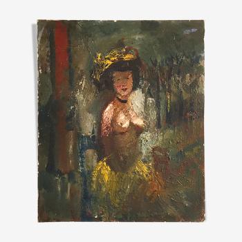 Nu huile sur toile par Fernand Labat