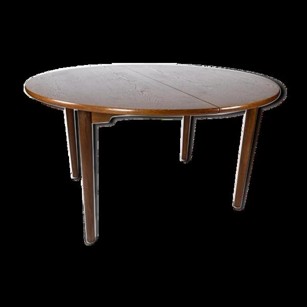 Selency Table à manger en chêne foncé de design danois des années 1960