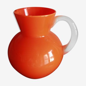Pot à eau vintage orange