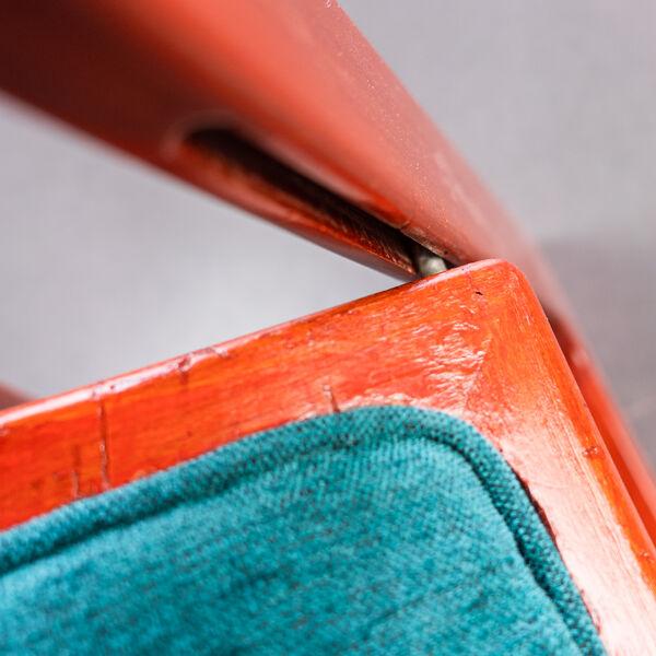 Chaise pliante Trieste par Aldo Jacober pour Bazzani années 70 vintage modern