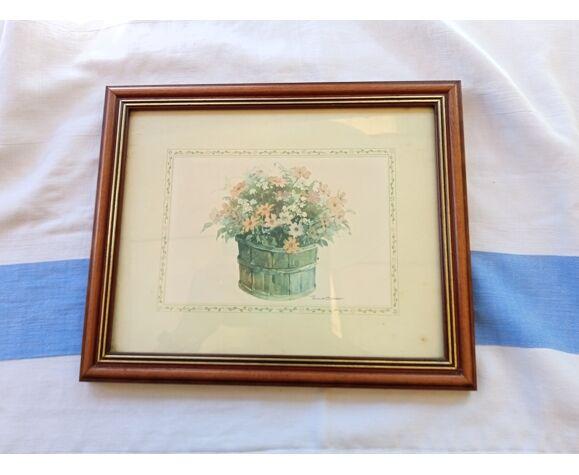 Tableau bouquet champêtre