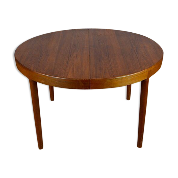 Selency Table ronde design scandinave en teck Harry Ostergaard vintage 1962