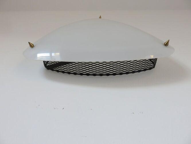 Applique en perspex et métal déployé années 50 60