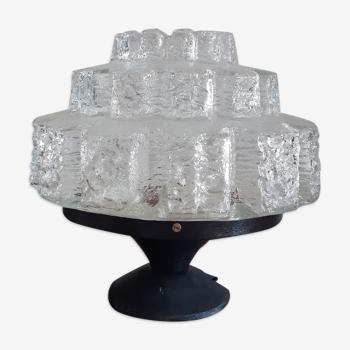 Lampe à poser en verre moulé