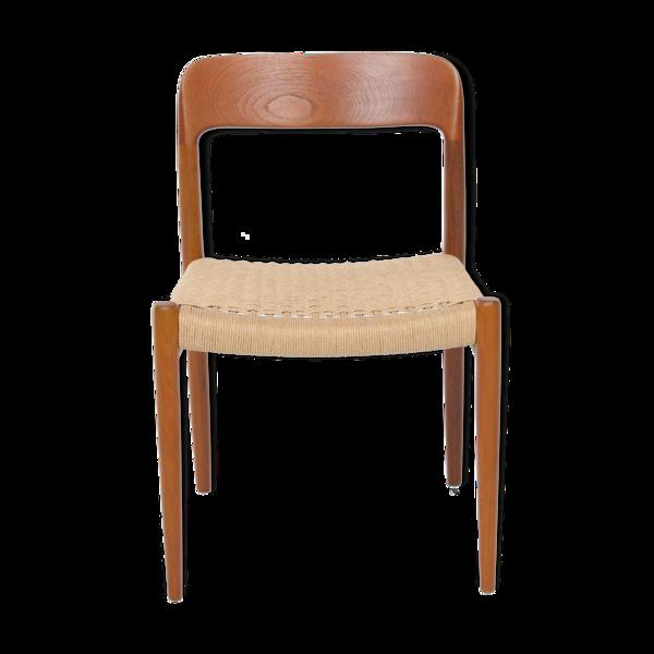 Selency Chaise par Niels Otto Moller avec un nouveau tissage de corde de papier, offre individuelle pour An