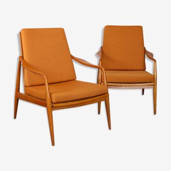 Paire de fauteuils, fabrication tchèque, 1960