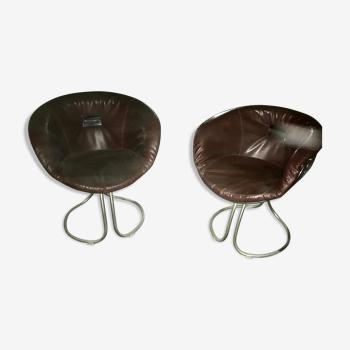 2 chaises Pan Am par Gastone Rinaldi pour Rima, Italie, 1970